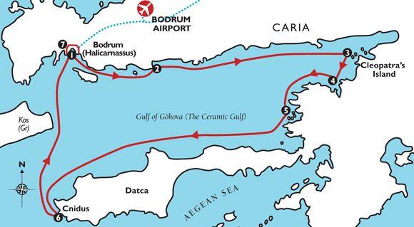 Itinéraire une semaine au départ de Bodrum