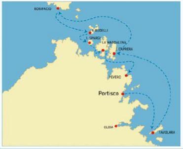 Itinéraire au départ de Portisco vers Bonifacio